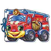 Книга для малышей Мягкие машинки: Пожарная машинка М333013У