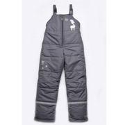 Полукомбинезон зимний для мальчика Модный карапуз 03-00462 графит