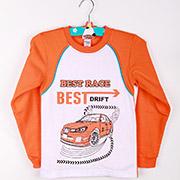 Пижама для мальчиков Best Race оранжевый ТМ Niso Baby 602Ao