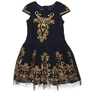 Платье нарядное для девочки Catmiko kids темно-синее