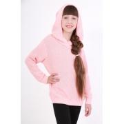 Кофта с капюшоном для девочки ОТМ Дизайн розовая
