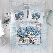 Комплект постельного белья Arya Dior ранфорс голубой