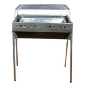 Складной мангал для барбекю на ножках (нерж. сталь) 5703