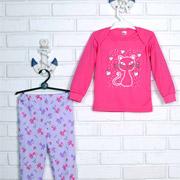 Пижама для девочки Татошка интерлок 016719 с котиком