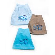 Шапочка для мальчика с отворотом Модный карапуз 03-00533 рибана