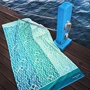 Пляжное полотенце Marie Claire Bresila зеленое