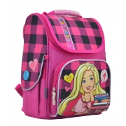 Рюкзак каркасный 1 Вересня H-11 Barbie red 33,5x26x13,5 см 555156