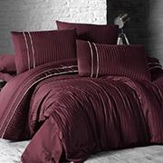 Комплект постельного белья из сатина First choice Stripe Style bordo