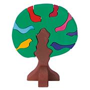 Конструктор деревянный Дерево с птицами темное Nic