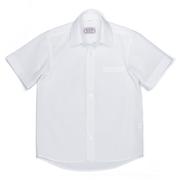Школьная белая рубашка без рукавов Юность 830-2