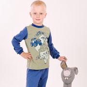 Пижама для мальчика Модный карапуз 03-00540 синяя