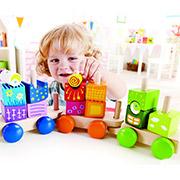 Паровозик с кубиками для фантазий Hape E0417