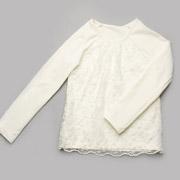 Реглан для девочки с гипюром Модный Карапуз 03-00619 молочный