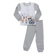 Пижама для мальчиков Niso Baby Happy Travel серая