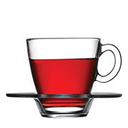 Набор чашек и блюдец для чая Pasabahce Aqua 95040