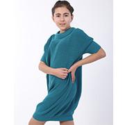 Платье трикотажное для девочки ОТМ Дизайн зеленое