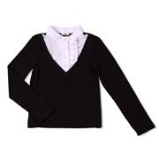 Блуза для школы Юность Д1-126-л черная