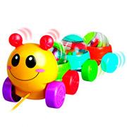 Игрушка-каталка Веселая гусеница на шнурке 61081-UN Unimax