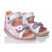 Детские босоножки Theoleo 104 бело-розовые