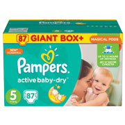 Подгузники Pampers Active Baby-Dry Размер 5 (Junior) 11-18 кг, 87 шт
