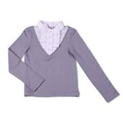 Школьная блуза Юность Д1-126-л светло-серая