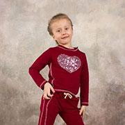 Реглан для девочки Модный карапуз 03-00566 Бордовый