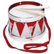 Музичний інструмент goki Барабан з шлеєю червоний