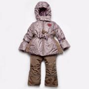 Зимний костюм-комбинезон Модный Карапуз Цветочки 03-00541