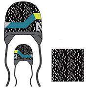 Комплект: шапка и манишка для мальчика Nano F14 TC 269 Black