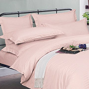 Постельное белье Light Rose Stripe сатин U-tek Home