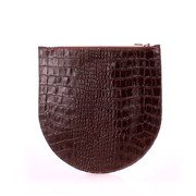 Кожаная косметичка-клатч Poolparty cosmetic-pp1-croco-brown