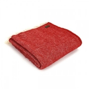 Плед шерстяной Tweedmill Fishbone Red 150Х183 см - Фото №2
