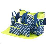 Набор сумок для мам Traum Soho 7010-15 синий с салатовым