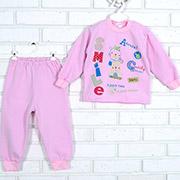 Пижама детская Татошка 01271 розовая с аппликацией