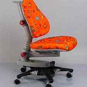 Кресло Y-818 RO обивка оранжевая с жучками Mealux