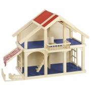Кукольный домик goki 2 этажа с внутренним двориком