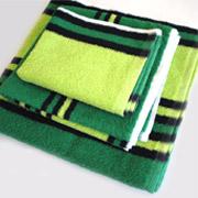 Полотенце махровое SoundSleep зелено-черное