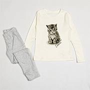 Пижама для девочек Elitol черно-серая 19160 с пандами купить в Киеве ... ce0dc8d7bfbb9