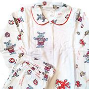 Пижама для девочки Красные Зайцы ТМ Niso Baby 603ADr