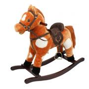 Игрушечный конь-качалка с музыкой JR603 Rock my baby