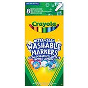 Набор 8 тонких смывающихся фломастеров классических цветов Crayola 58-8330