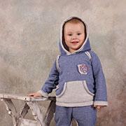 Костюм спортивный для мальчика Модный карапуз 03-00563 синий джинс