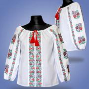 Вышитая блуза для девочек Сварга Радуга