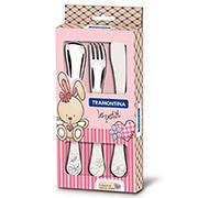 Набор столовых приборов Tramontina Baby Le Petit pink/X3 66973/005