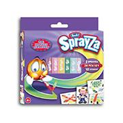 Набор 20 фломастеров и 12 трафаретов мини-набор №20 серии SprayZa Renart
