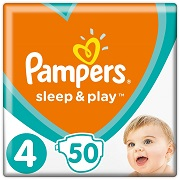 Подгузники Pampers Sleep & Play Размер 4 Maxi 9-14 кг, 50 шт 8001090669056