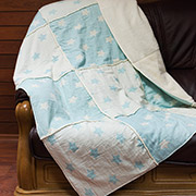 Плед мікроплюш Star Patchwork throw Barine mint ментоловий