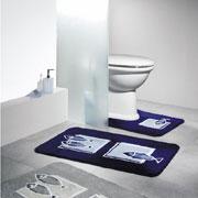 Коврик для ванной Spirella Andros синий