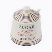 сахарница с ложкой
