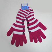 Перчатки для девочек высокие вязаные Bursa Margot Bis 2911750409259